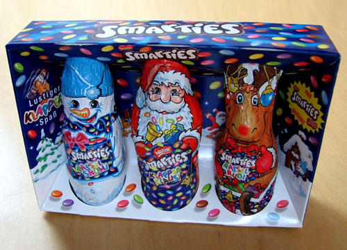 Smarties version Santa Claus